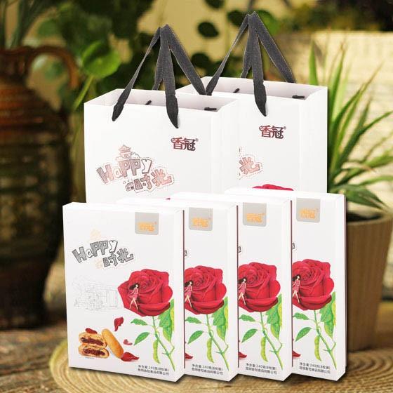 香冠看得见的花瓣鲜花饼4盒32块(单块约5.3元)