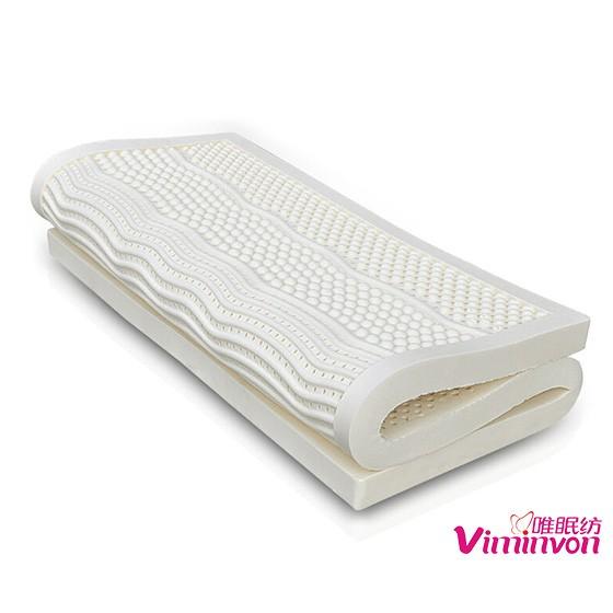 唯眠纺乳胶按摩床垫1.5米(送乳胶枕2个+全棉四件套)
