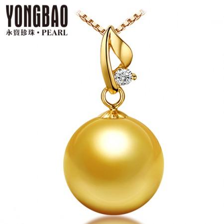 [永宝]18K金美若天仙镶钻石金珠吊坠