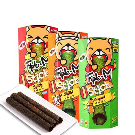 泰国原装泰紫熊经典原味调味海苔卷美味分享组
