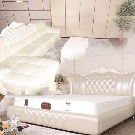 帕格尼欧式1.8米床沙发活动组