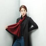 范思哲经典羊毛围巾 红色(100%羊毛,180*36cm)