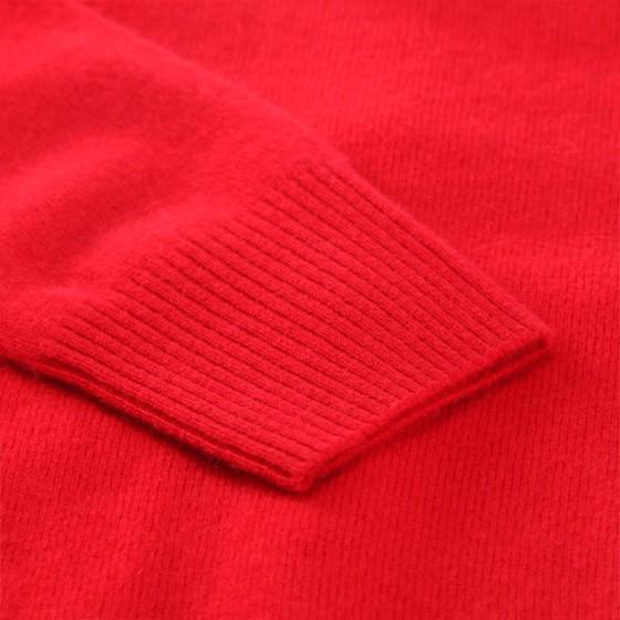 兆君小香风女士羊绒衫 红色