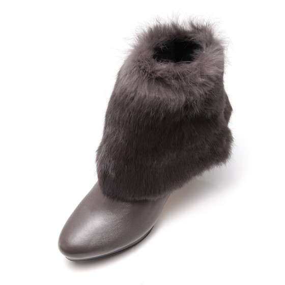 Elsmorr 法国百变升温羊皮女靴·1双·灰色