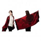 范思哲经典羊毛披肩 红色