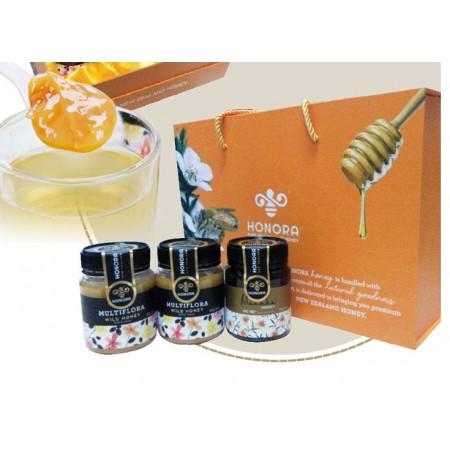 新西兰进口纽蜂王蜂蜜340g*3罐 礼盒装