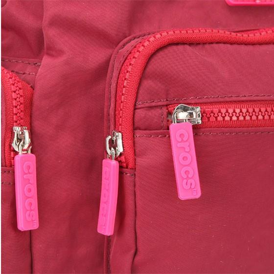 crocs 多功能手拎包·3件·深红色