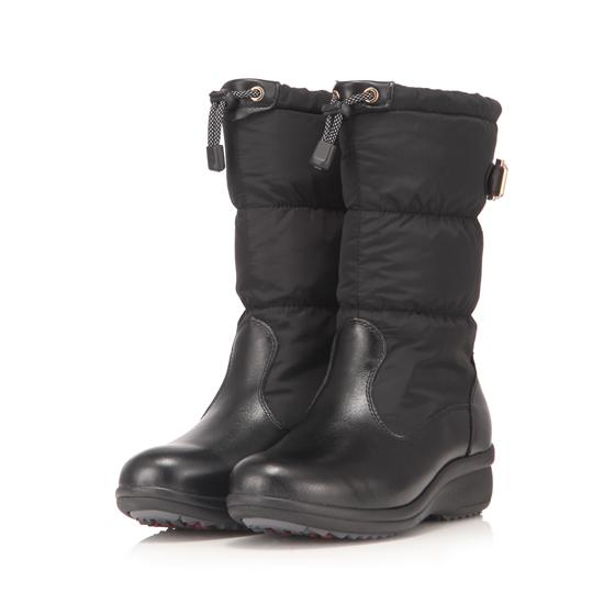 Jellyko 女款羽绒保暖皮靴·黑色