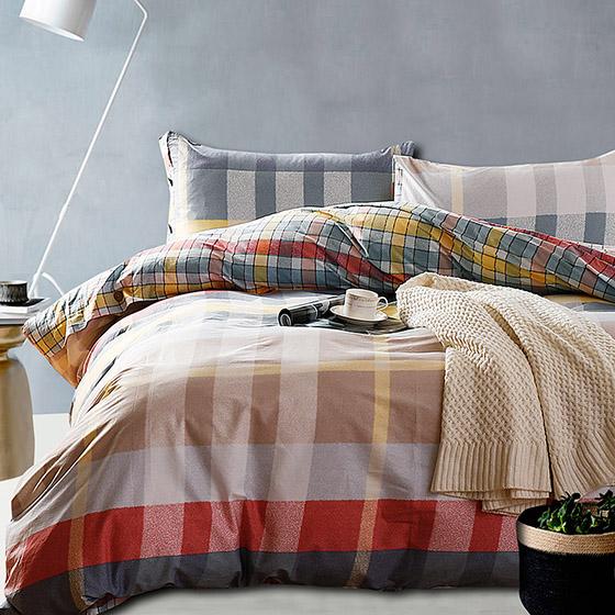 唯眠纺 全棉斜纹印花四件套-清新色彩-兰