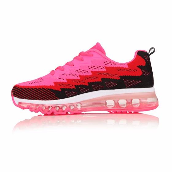 美国U.Shoe 全掌气垫女款运动鞋·粉色