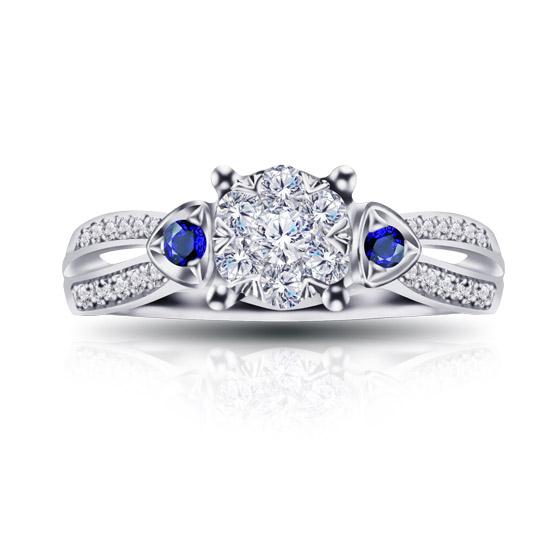 梦思芭克 18K金钻石戒指