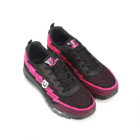 美国U.Shoe全掌气垫女款运动鞋 黑色