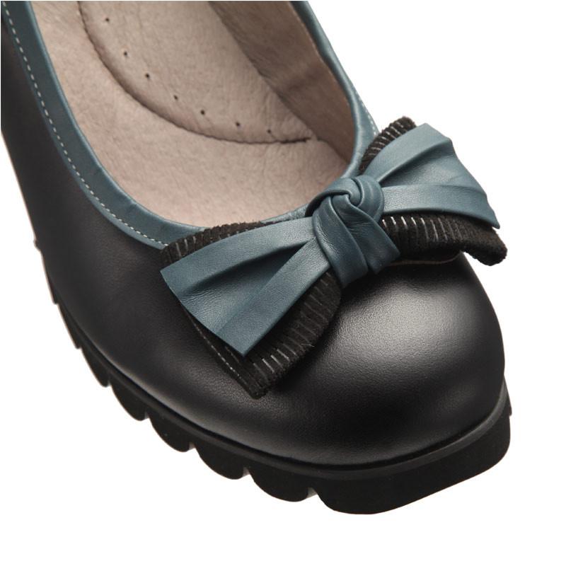诺曼地 可弯曲牛皮高跟鞋·黑色