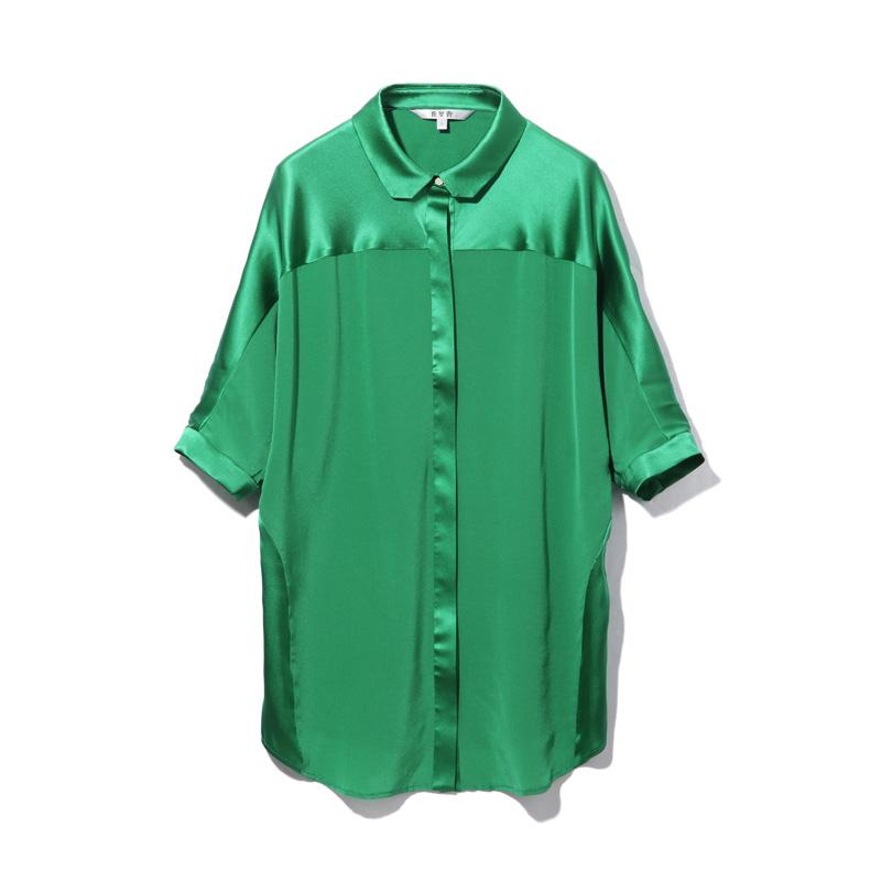 丘里普 桑蚕丝女款衬衣·绿色
