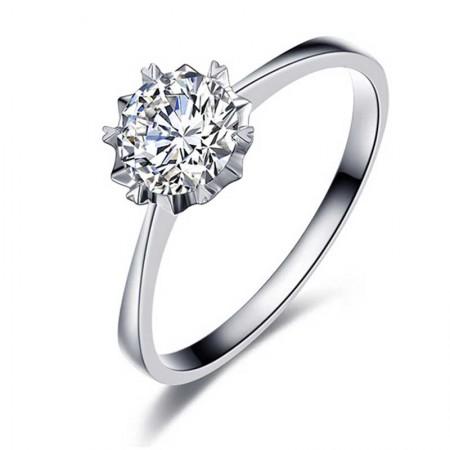 梦·梵雅 18K金镶30分钻石戒指--闪耀