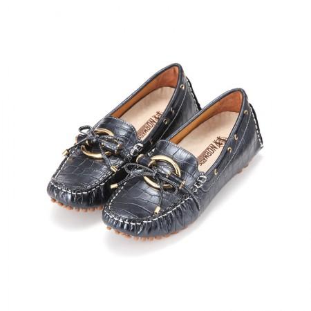 诺曼地 荣耀经典环饰豆豆鞋·黑色