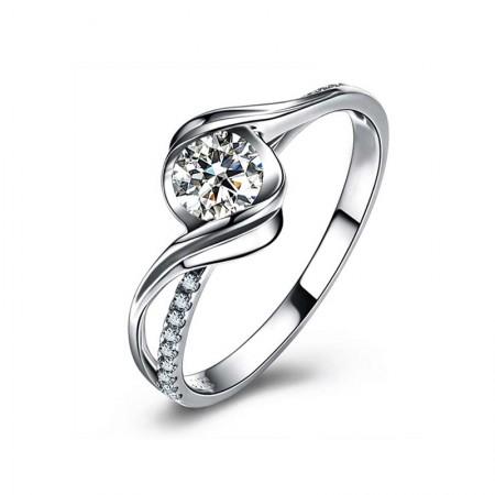 梦·梵雅18K金镶30分钻石戒指--邂逅