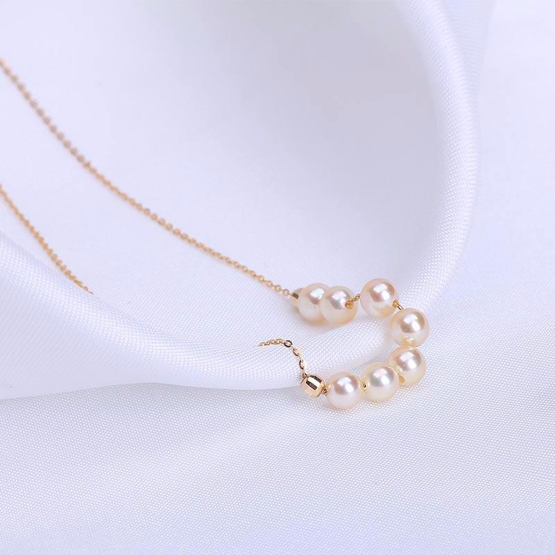 银生 G18K金香草美人珍珠项链
