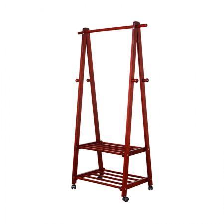 英国INNESS英尼斯 原装进口橡胶木多功能衣架·红紫