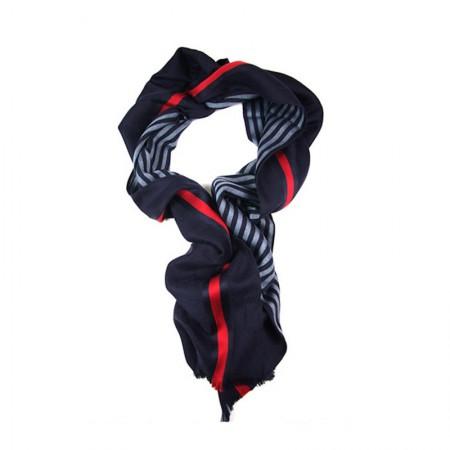 GUCCI经典时尚条纹围巾·深蓝