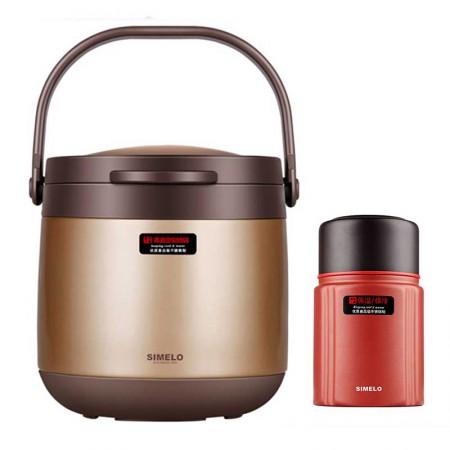 SIMELO施美乐 印象京都系列4.5L焖烧锅加800ML焖烧杯组合