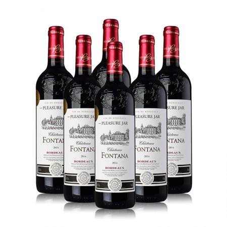 法国原装进口 富特城堡干红葡萄酒·750ml*6