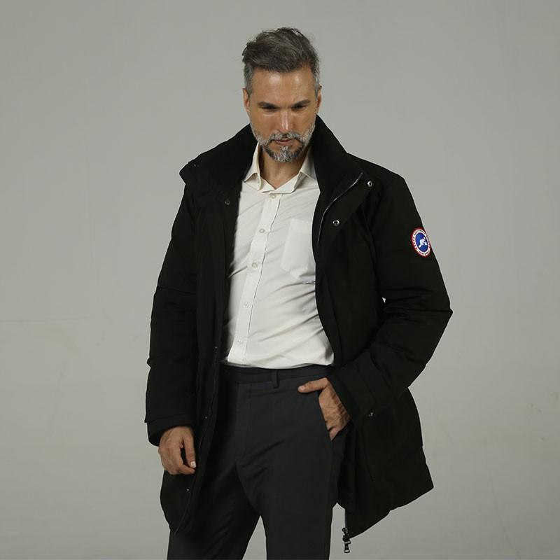 加拿大品牌SainDyfan三防95%白鹅绒服(厚款)·黑色