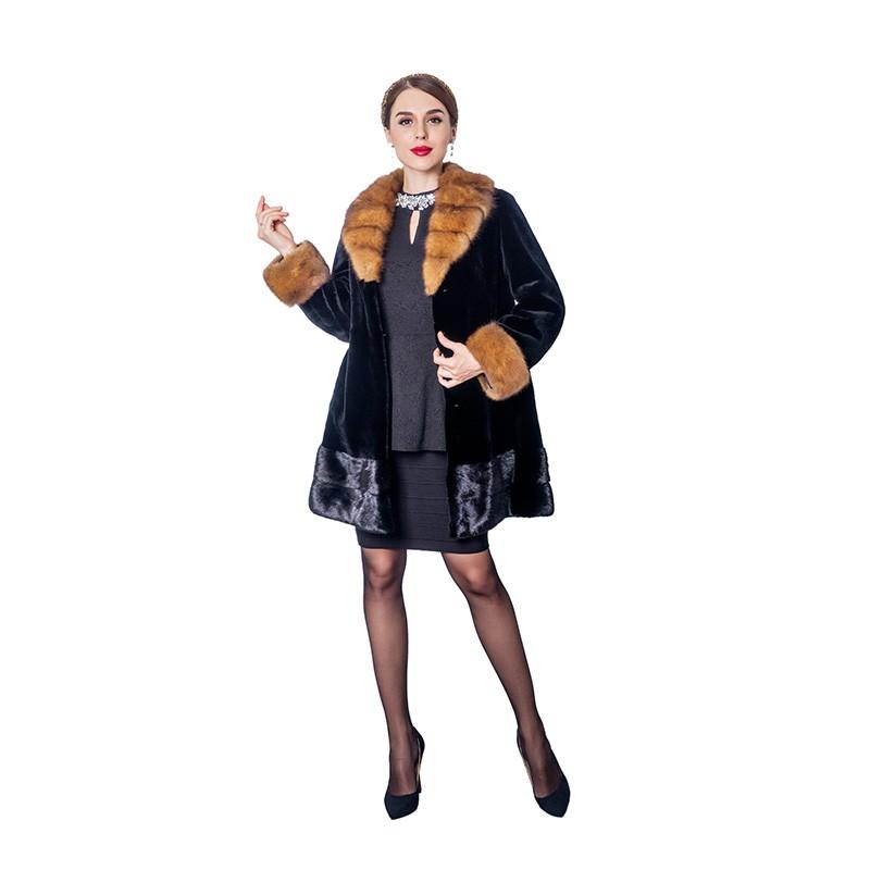 今昇稀世紫貂貂绒大衣·黑色