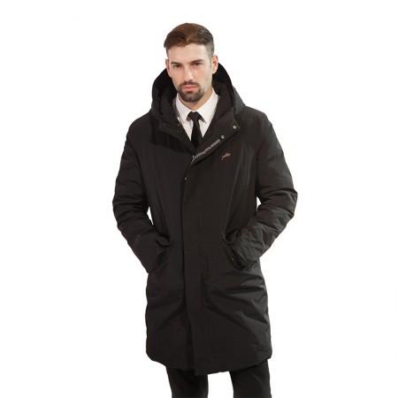 今昇简约长款加厚男士羽绒服·黑色