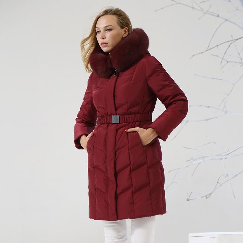 索欧特完美修身羽绒服·枣红色