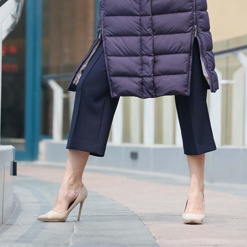 朗姿高端时尚羽绒服·藏蓝色