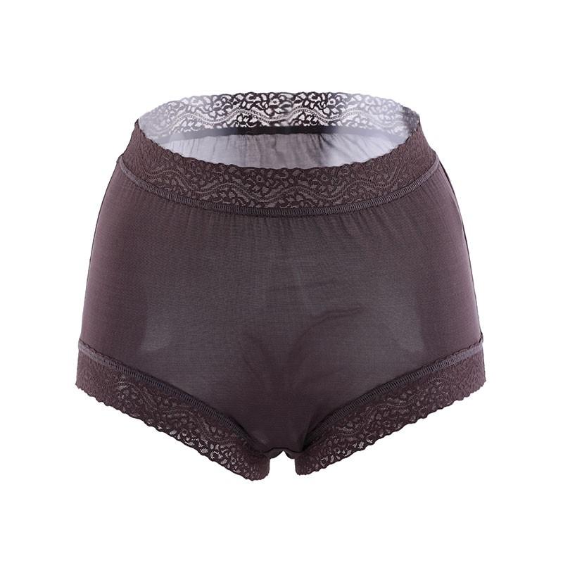 阙兰绢40针超高腰柔细100%蚕丝裤组
