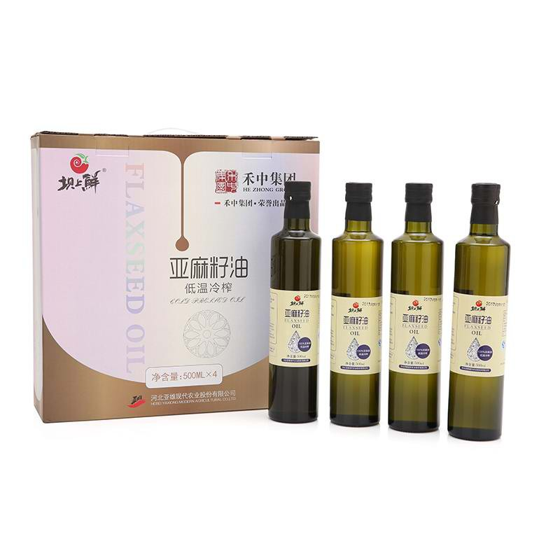 禾中坝上鲜亚麻籽油超值组