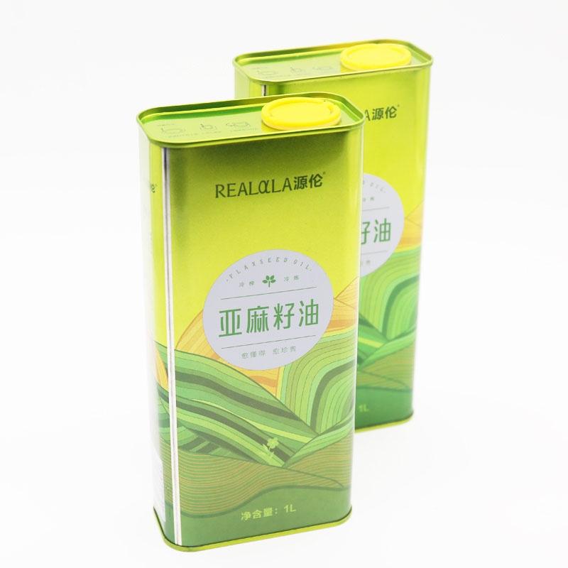源伦 冷炼冷榨亚麻籽油1L*8