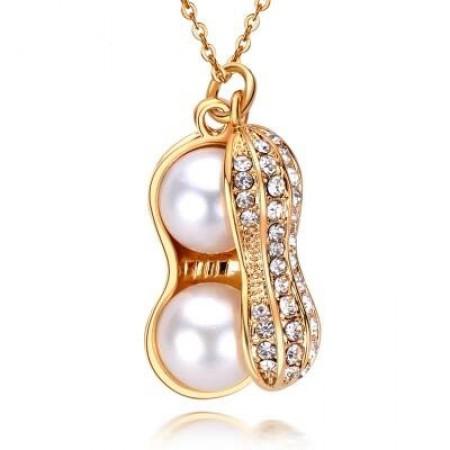 福寿安康珍珠项链 白色