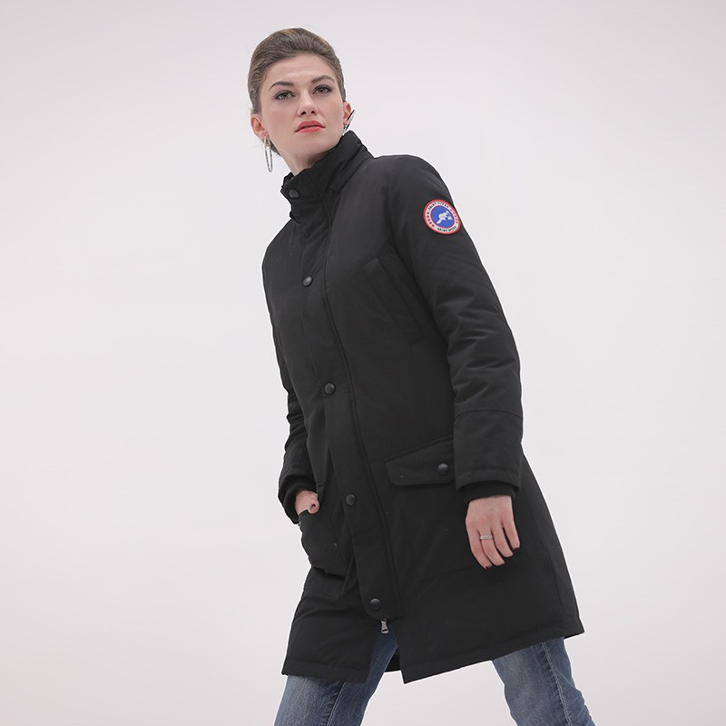 加拿大SaintDyfan女士强防水95%白鹅绒服(厚款)·黑色