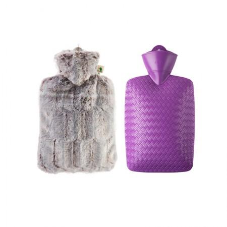 【到手价169】Hugo Frosch热水袋两件组德国毛绒编织