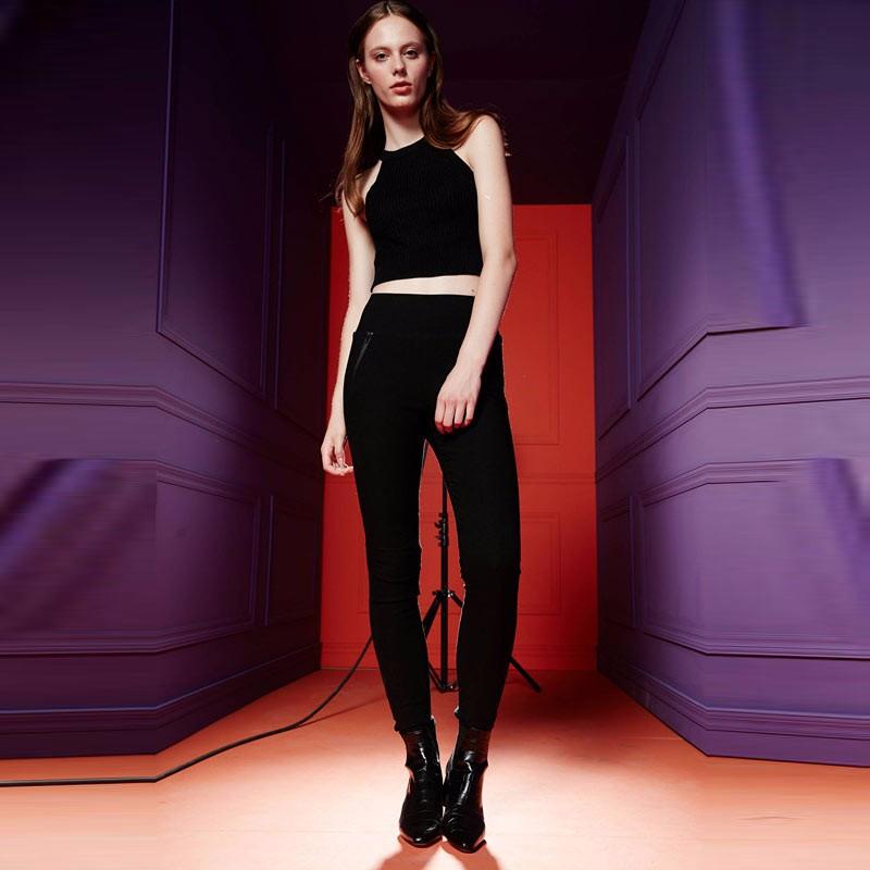 芭芭利亚女士鹅绒裤·黑色