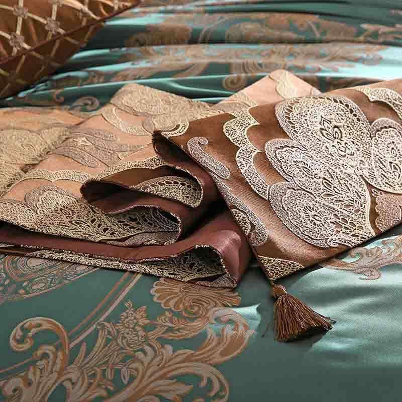 万事利科林斯传奇真丝色织床品套件
