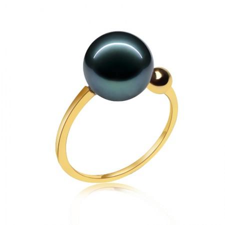 安妮挚爱14K金大溪地黑珍珠戒指
