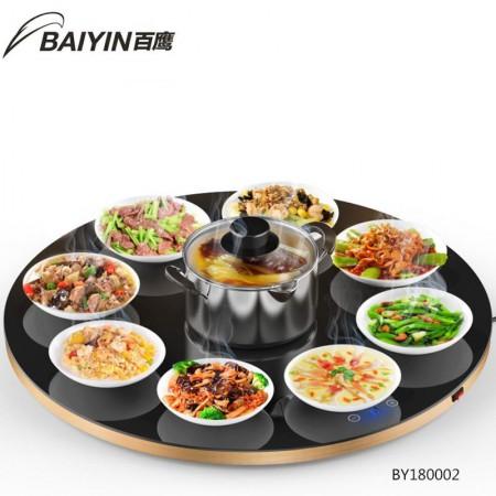 百鹰 可旋转饭桌暖菜保温板 80CM
