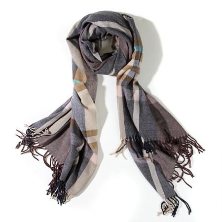SSYAOGE 英伦欧美大格子菱纹羊毛围巾1706·格子