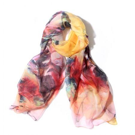 丁摩 桑蚕丝围巾真丝围巾沙滩巾真丝披肩W014·丛·林