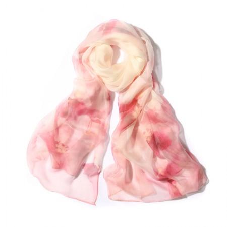丁摩 桑蚕丝围巾真丝围巾沙滩巾真丝披肩W014·粉·莲