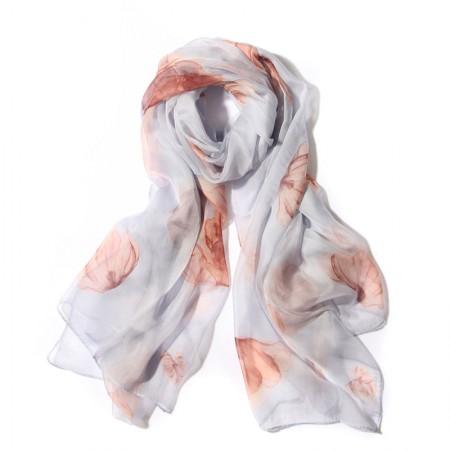 丁摩 桑蚕丝围巾真丝围巾沙滩巾真丝披肩W014·风·姿