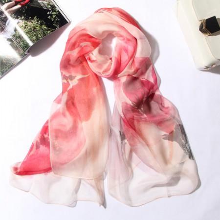 丁摩 桑蚕丝围巾真丝围巾沙滩巾真丝披肩W014·倾·城