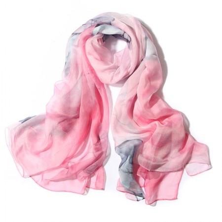 丁摩 桑蚕丝围巾真丝围巾沙滩巾真丝披肩W014·秋·色