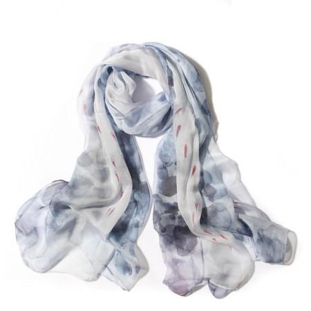 丁摩 桑蚕丝围巾真丝围巾沙滩巾真丝披肩W014·清·雅