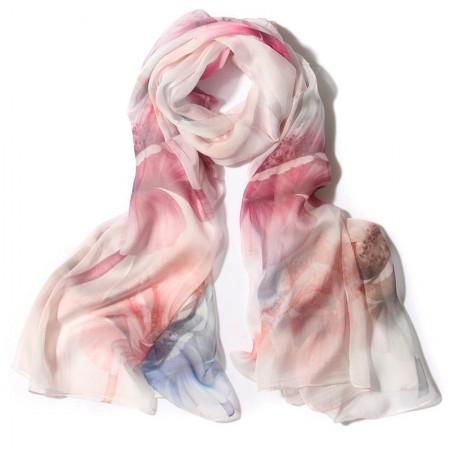丁摩 桑蚕丝围巾真丝围巾沙滩巾真丝披肩W014·碎·花