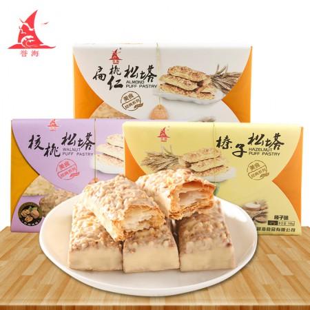誉海休闲小食美味松塔198g/盒*3 榛子松塔、核桃松塔、扁桃仁松塔·榛子松塔+
